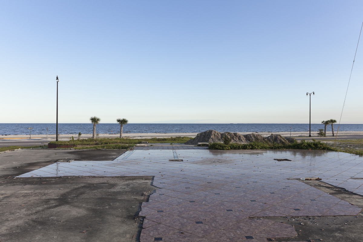 Floor of a Building Destroyed by Hurricane Katrina, Beach Boulevard, Gulfport, Mississippi, 2014. Elevation Eleven Feet. N 30.38144 W 89.03029.