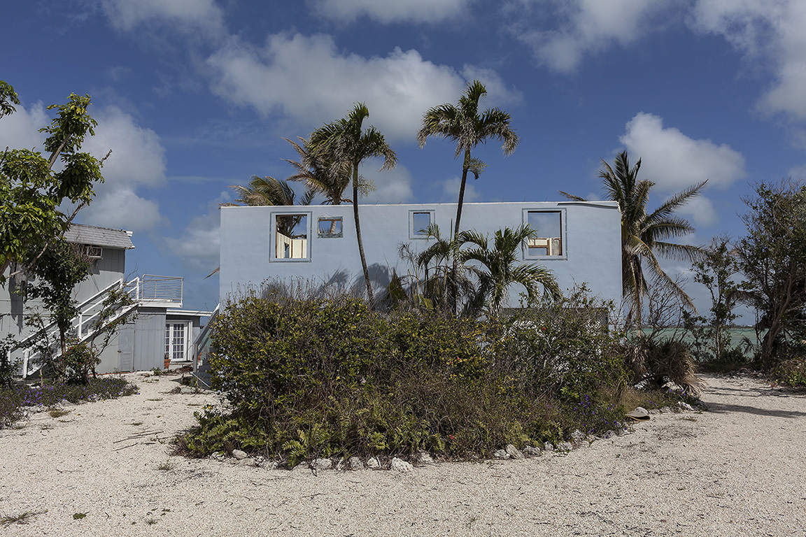 Beach House Totaled by Hurricane Irma, Boulder Drive, Bay Point Key, Florida, 2018         	Elevation Six Feet. N 24.62450 W 81.59118.
