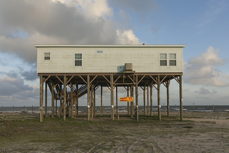 """Ocean Front Paradise"" Rental, State Highway 87, Bolivar Peninsula, Texas, 2014."