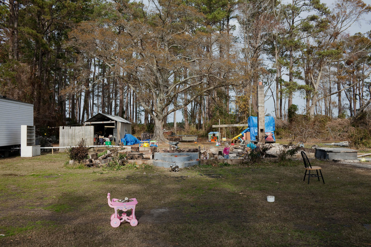 Remains of a House Destroyed by Hurricane Irene and Burned by Its Owners, Lowland, North Carolina, 2011.