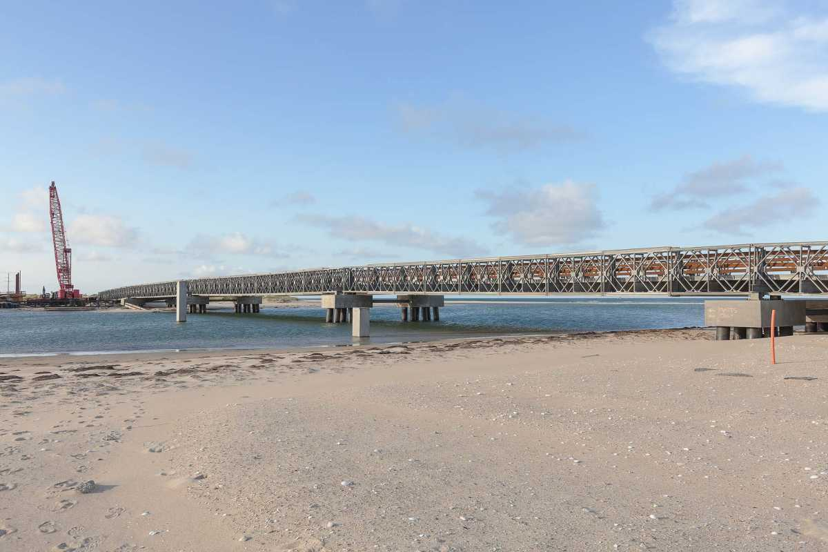 Bridge Constructed over New Inlet, a Breach Caused by Hurricane Irene, NC12, Outer Banks, North Carolina, 2014.