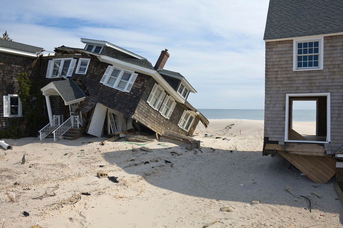 Beach Houses after Hurricane Sandy, 959 East Avenue, Mantoloking, New Jersey, March 2013.