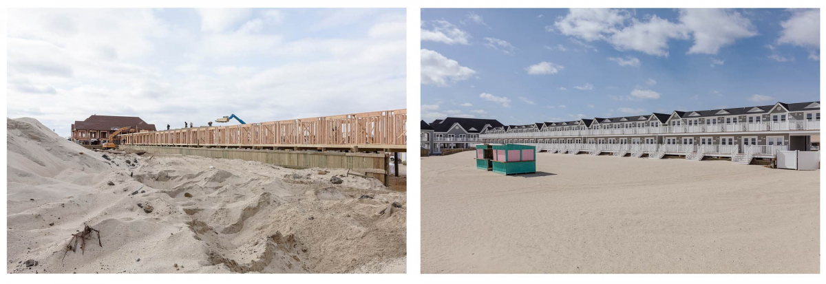 New Construction after Hurricane Sandy, Edgewater Cabanas, Sea Bright, New Jersey, 2013 & 2014.