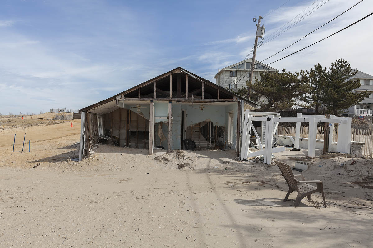 21 South Beach Drive, Vision Beach, Seaside Heights, New Jersey, 2014.  Elevation Seven Feet. N 39.95051 W 74.07018.