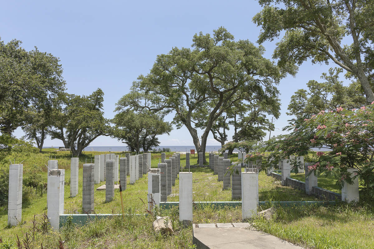 Lot for Sale, House Destroyed by Hurricane Katrina, Bay St. Louis, Mississippi, 2014. Elevation Nine Feet. N 30.29171 W 89.32919.
